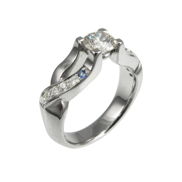 Platinum & Diamond Engagement Ring.