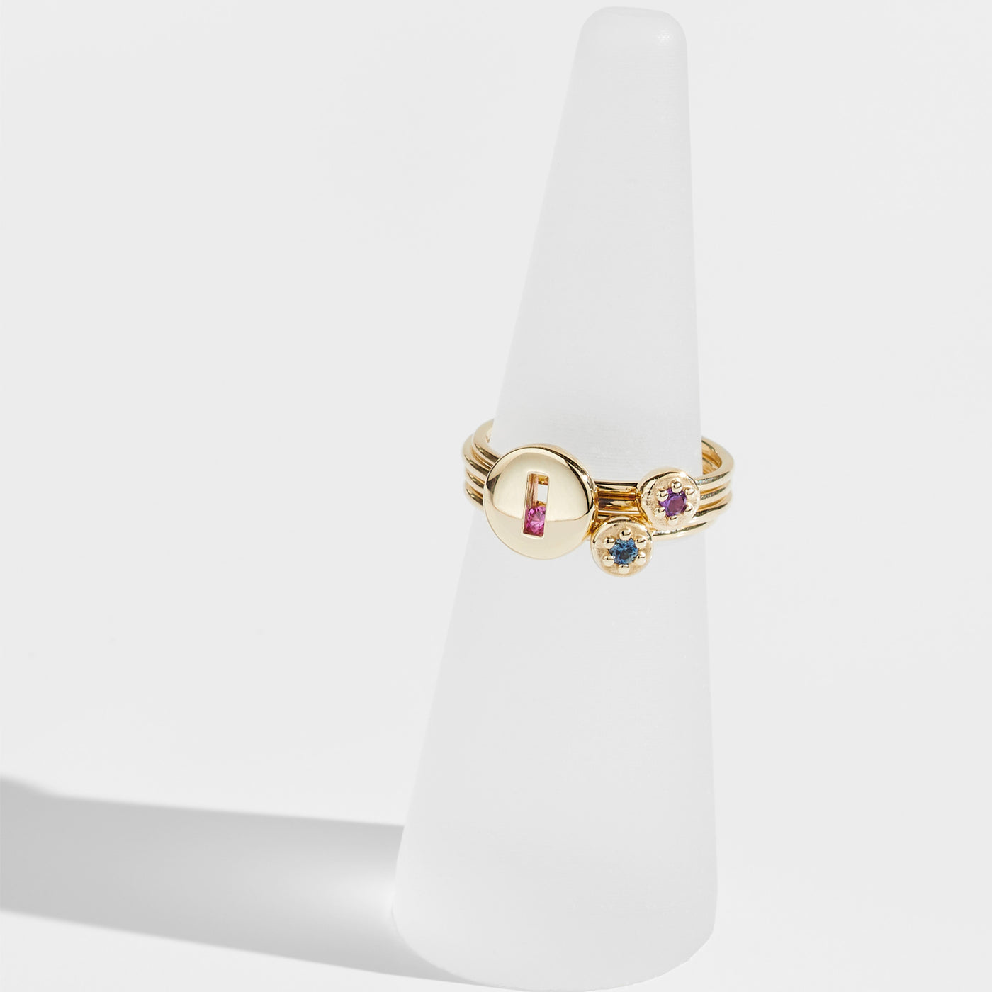 Luke Rose Jewellery gold poppy rock ring