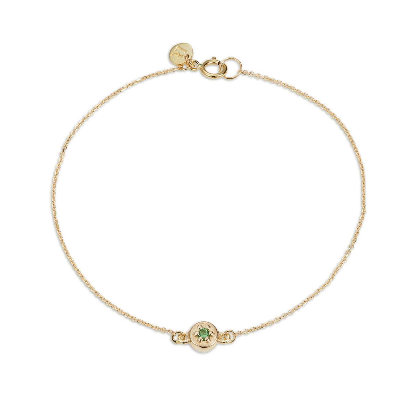 Luke Rose Jewellery gold green tsavorite garnet bracelet