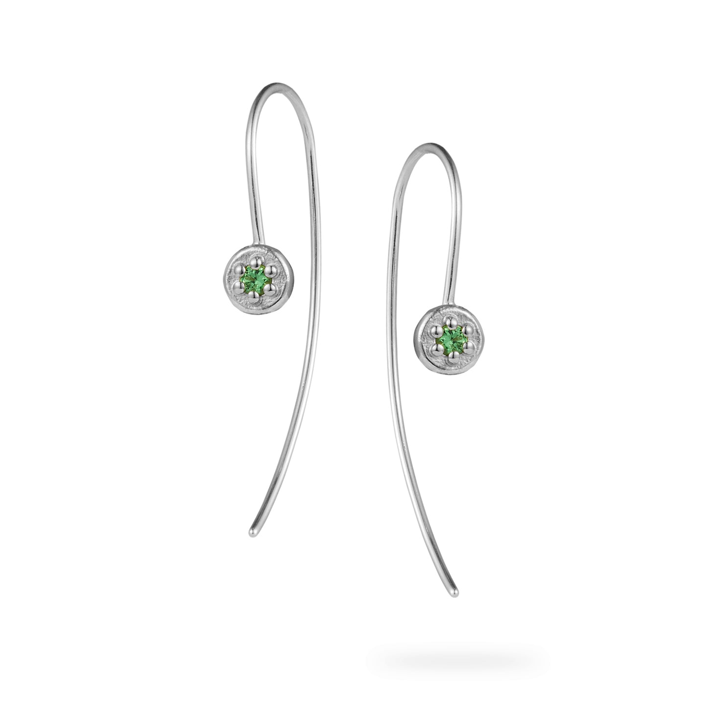 Luke Rose Jewellery stone set silver ear wires
