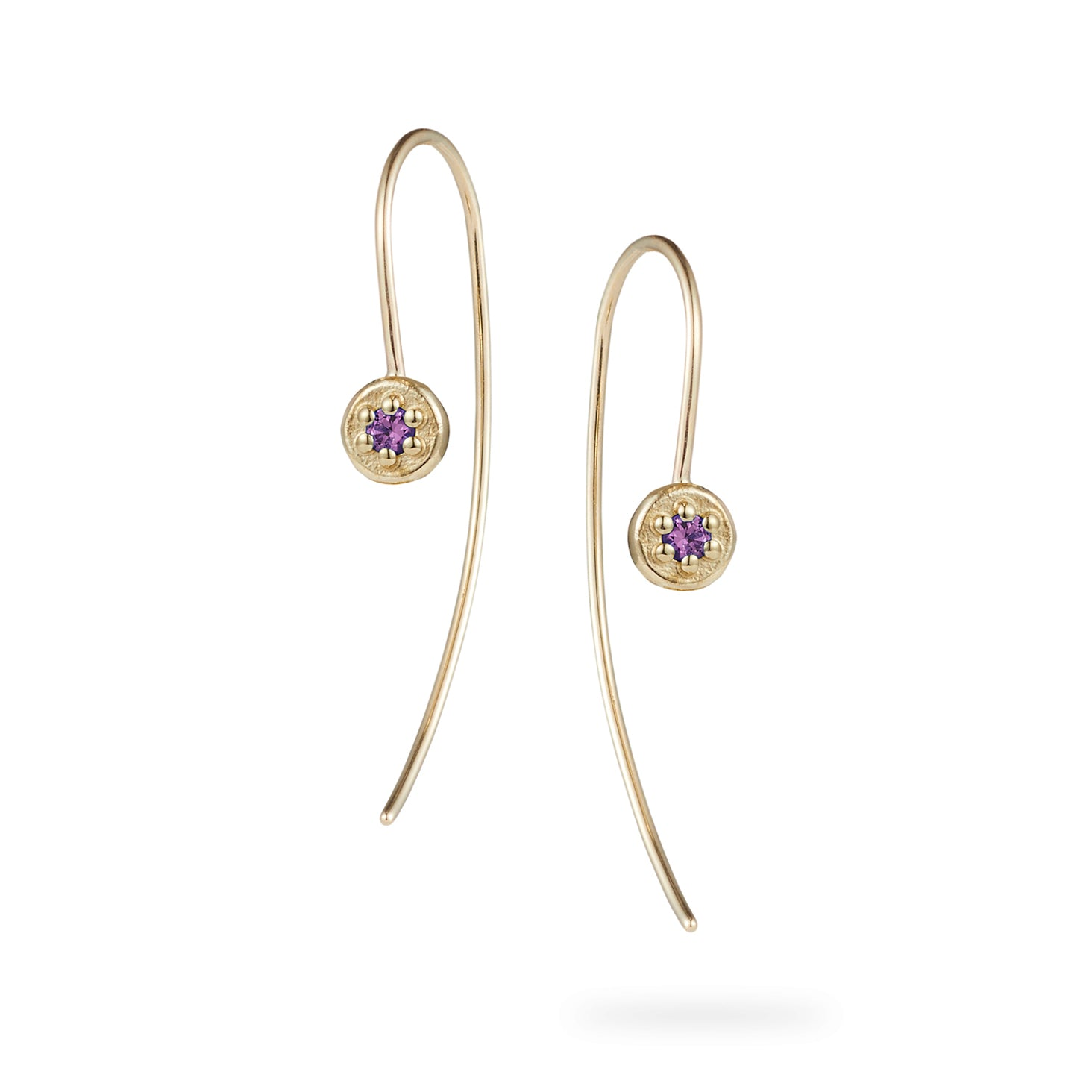 Luke Rose Jewellery yellow gold stone set ear wires