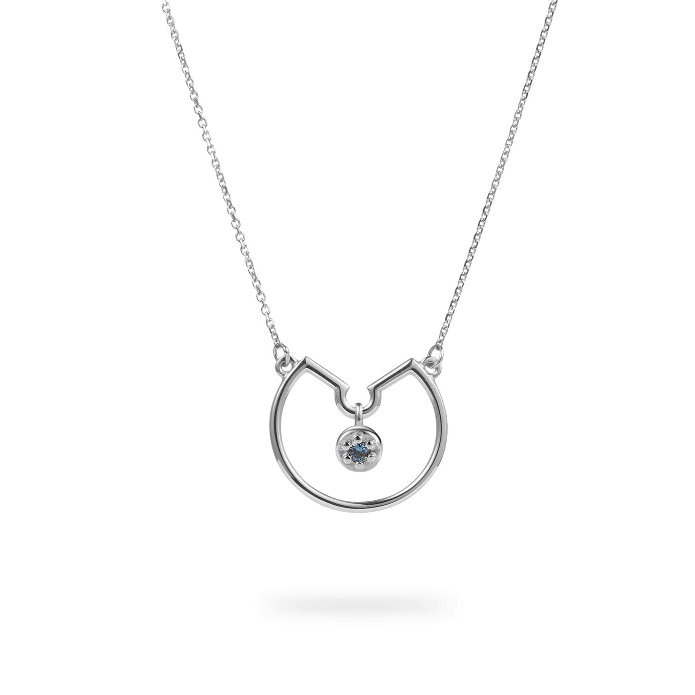 Luke Rose Jewellery Silver Blue Sapphire Necklace