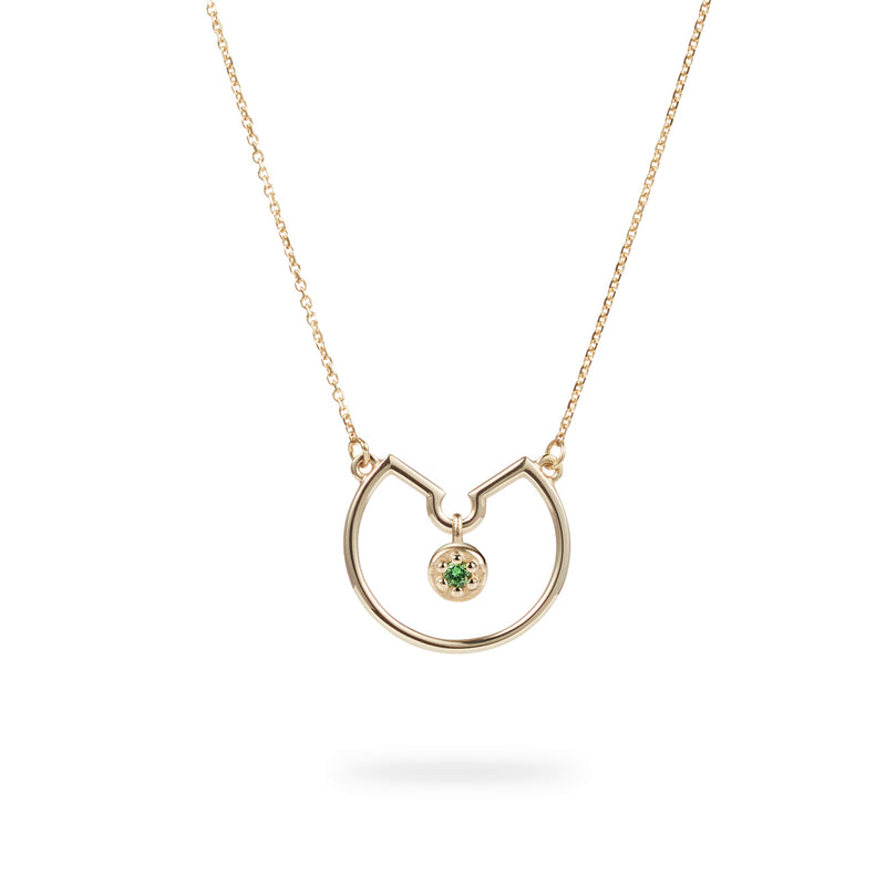 Luke Rose Jewellery Rock Collection Poppy Rock Hoop Necklace