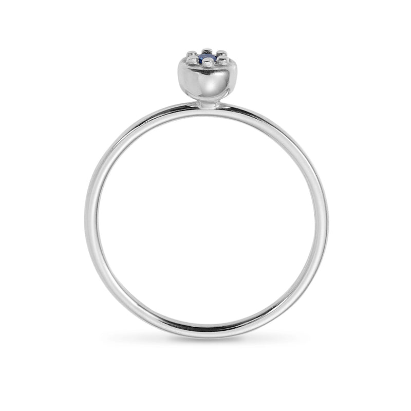 Luke Rose Jewellery silver stack ring