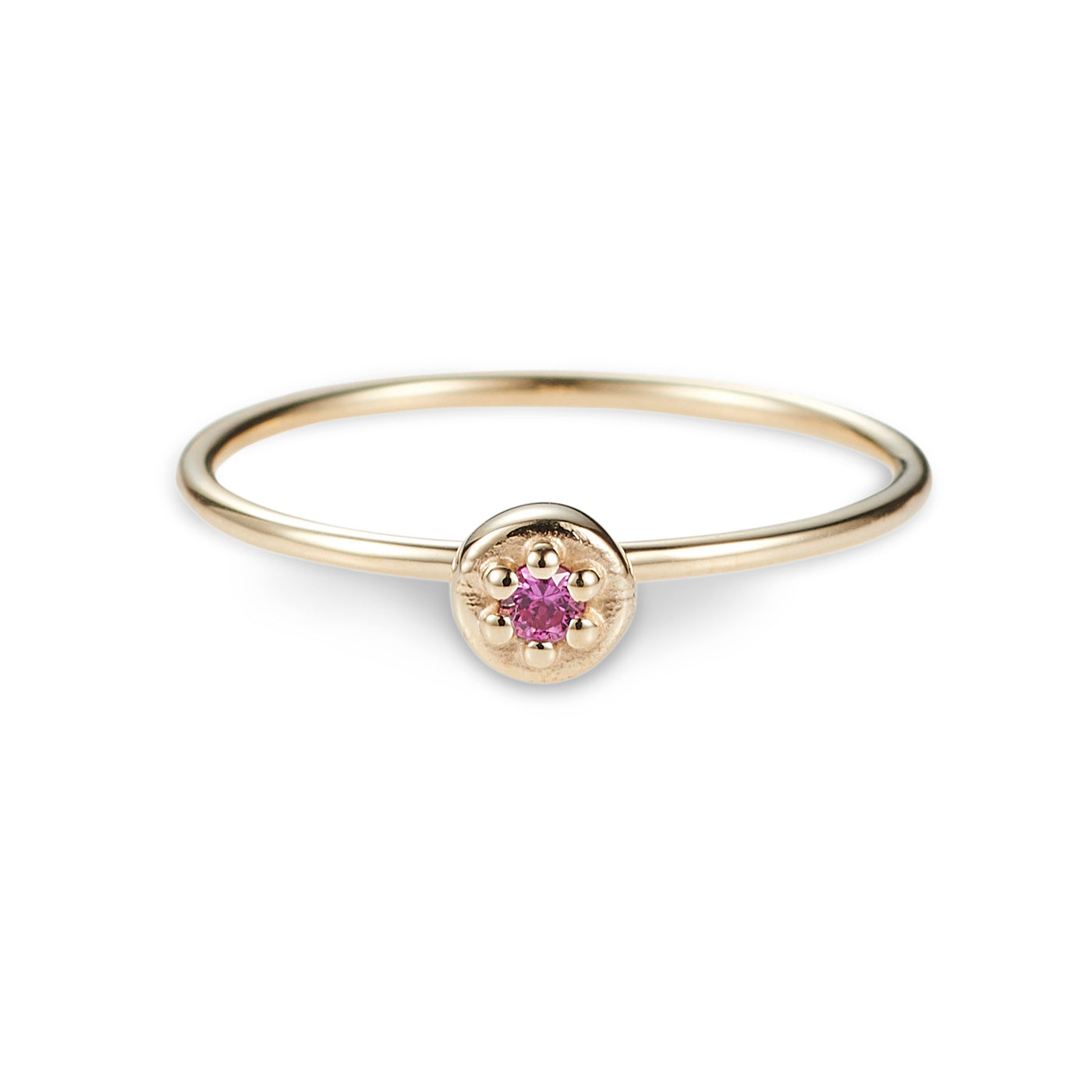 Luke Rose Jewellery gold pink sapphire ring