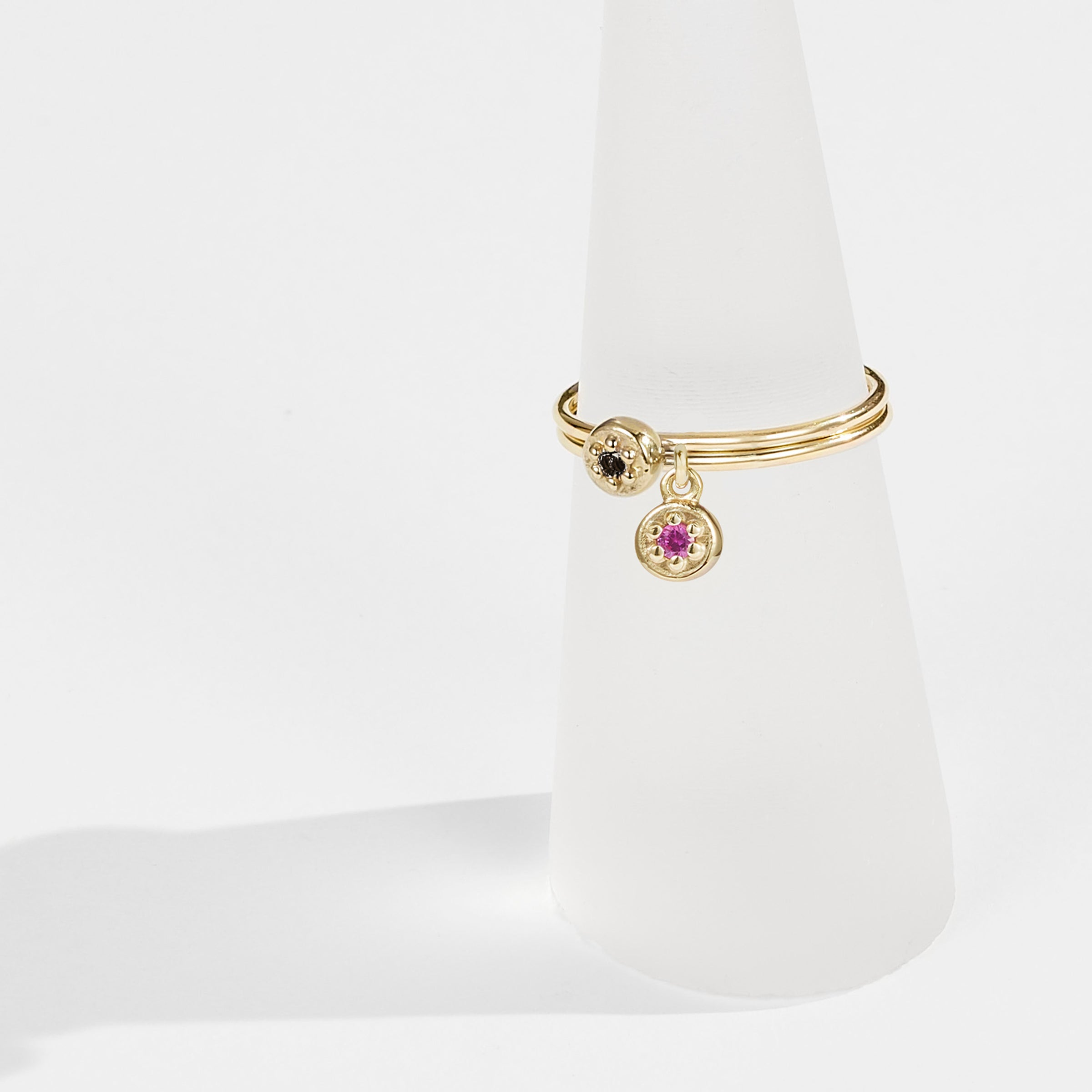 Poppy Rock Drop Ring in Solid Gold