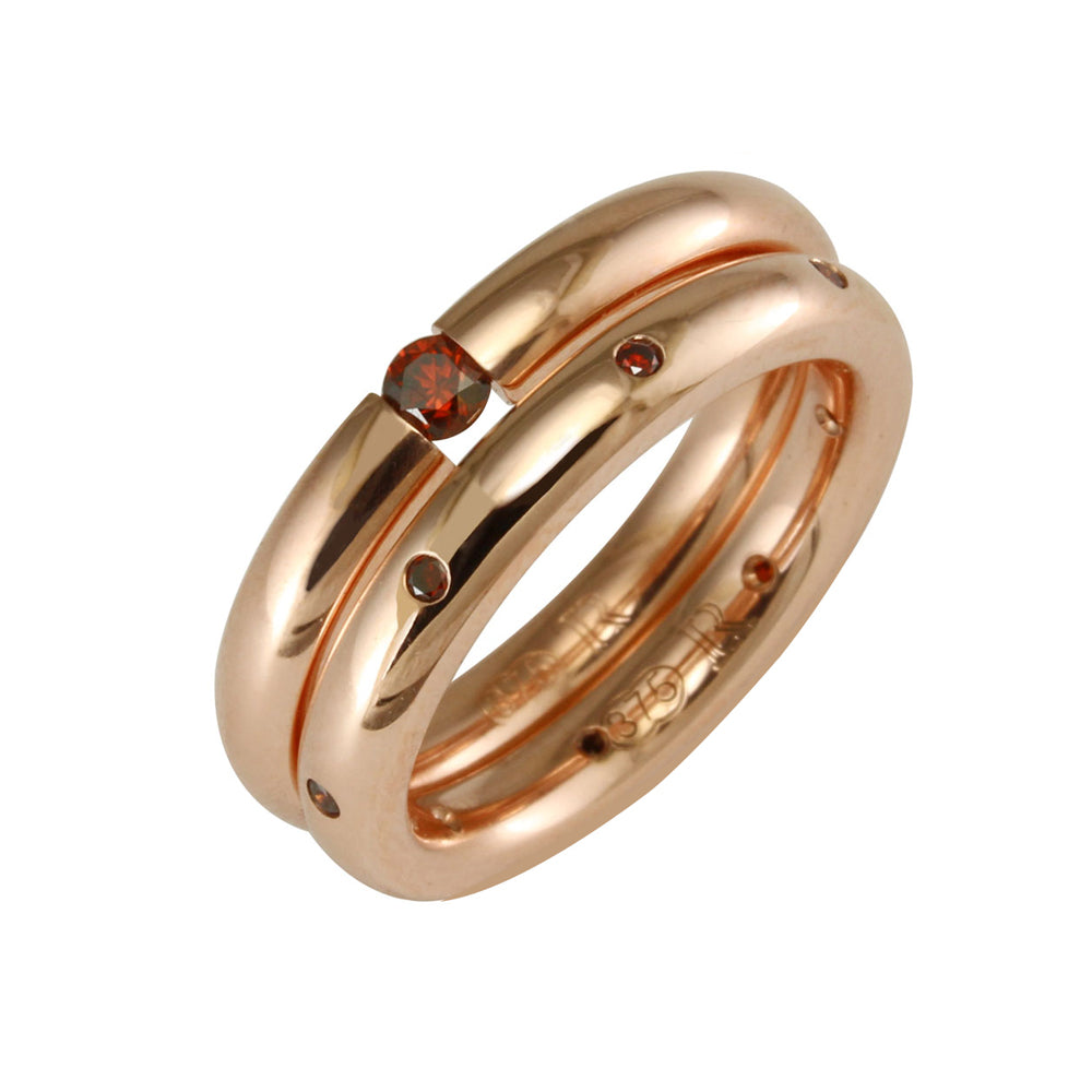 Rose Gold Tension Set Band