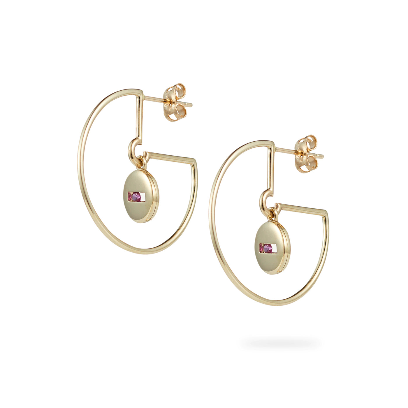 Luke Rose Jewellery gold hoop earrings