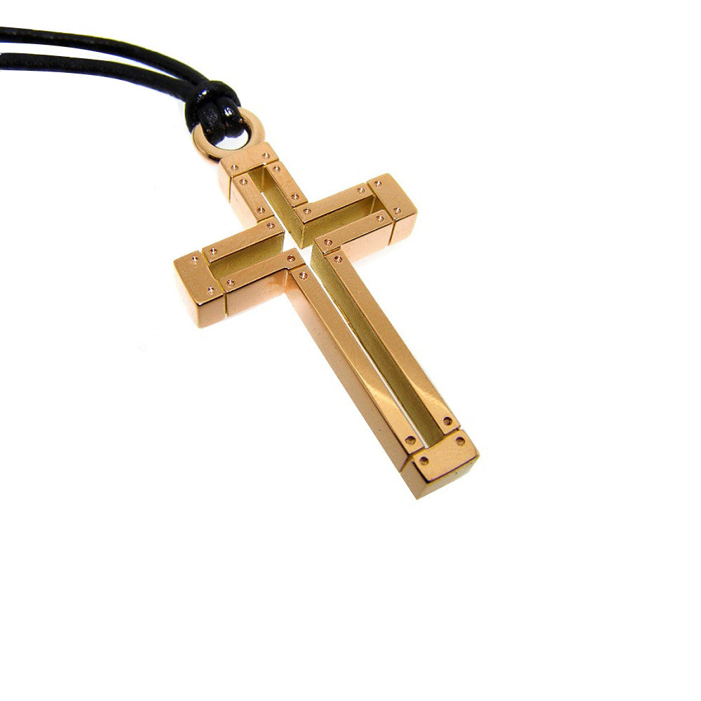 18ct Rose Gold Cross.