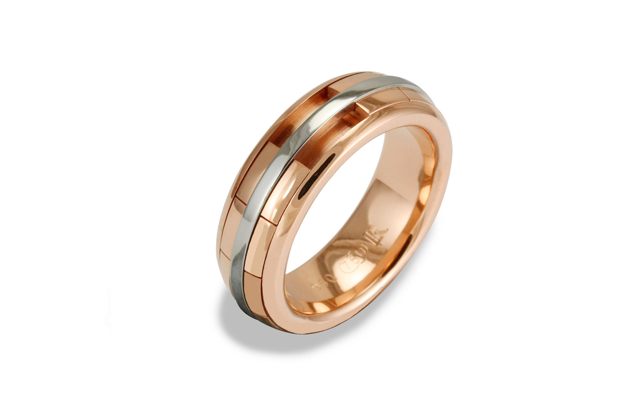 Ladies REVOLVER Ring in 9ct Rose Gold