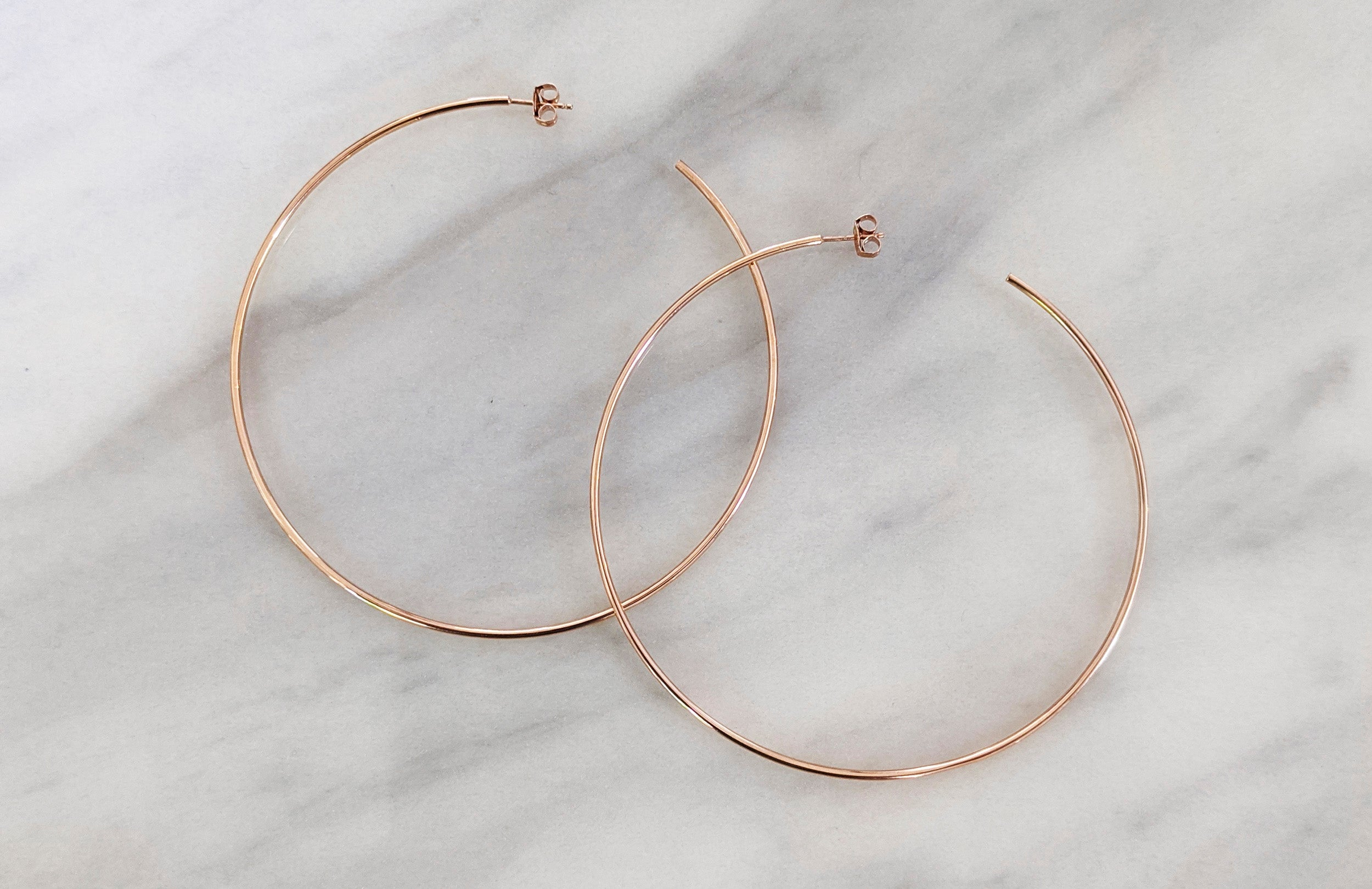Large Rose Gold Hoops