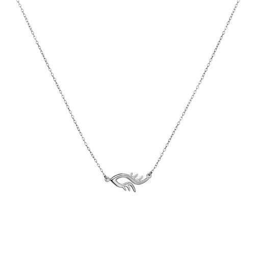 BLINK Single Bright Eye Necklace Rhodium
