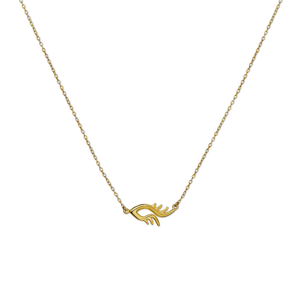 BLINK Single Bright Eye Necklace Gold