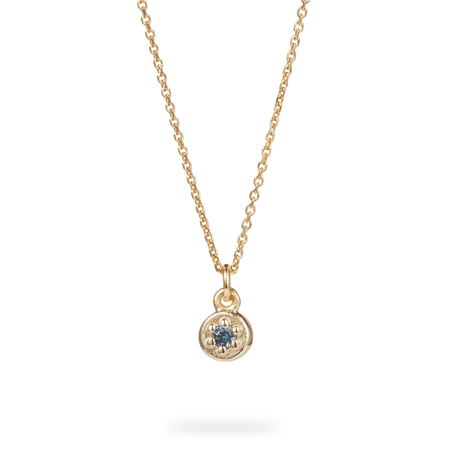 Luke Rose Jewellery Gold Poppy Rock Necklace