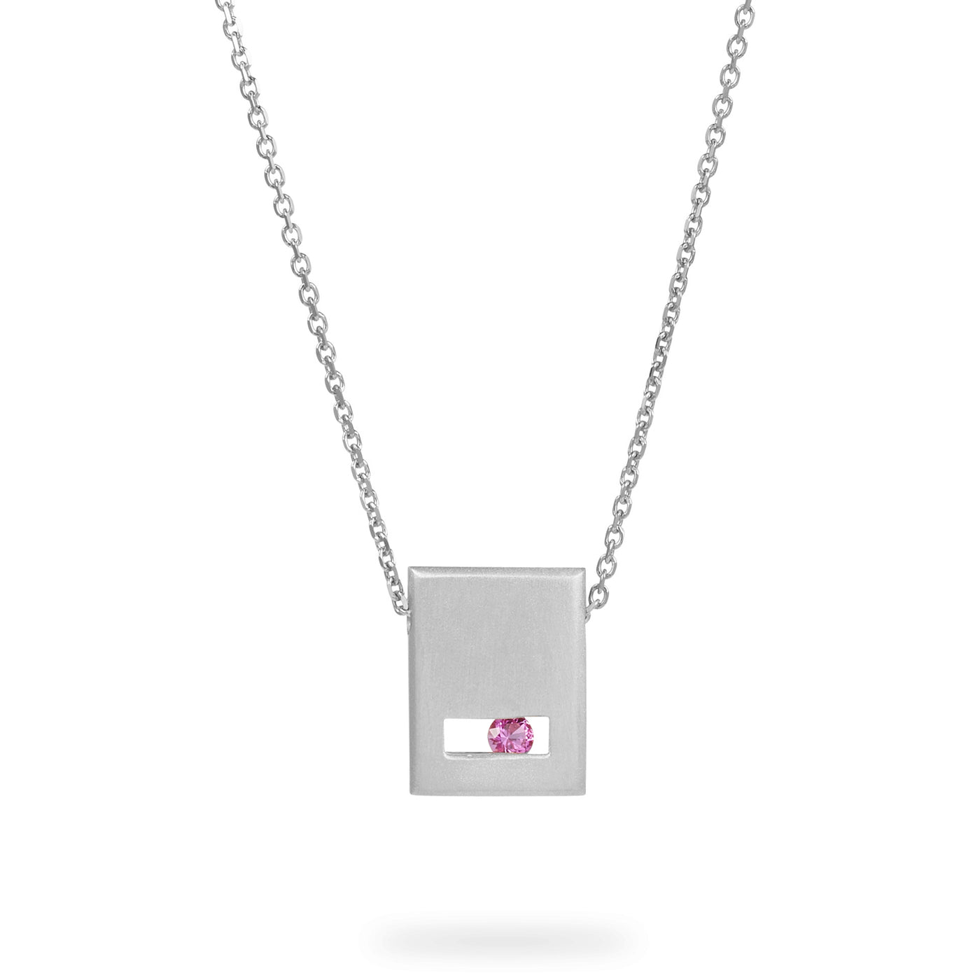 Luke Rose Jewellery Rock Collection Silver Slate Necklace