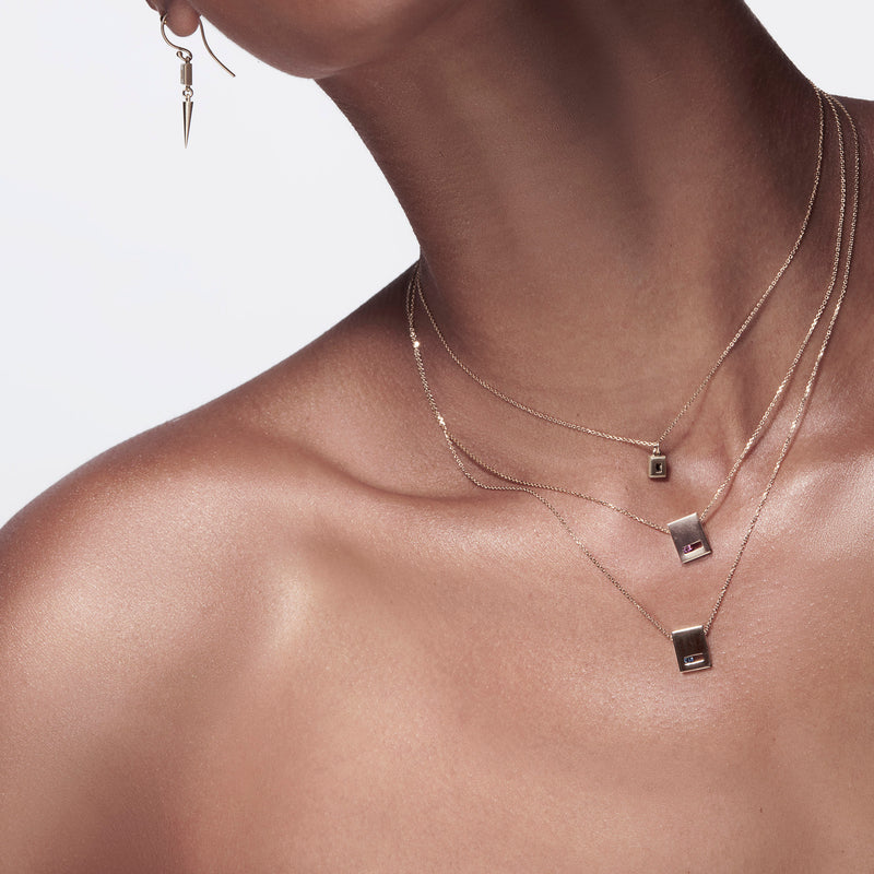 Luke Rose Jewellery Rock Collection Gold Slate Necklaces