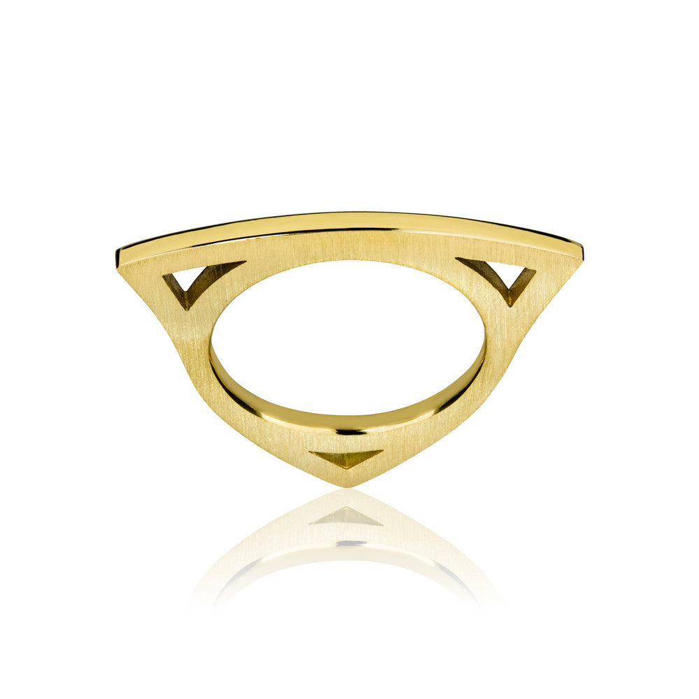 Unique Slide stack ring yellow gold