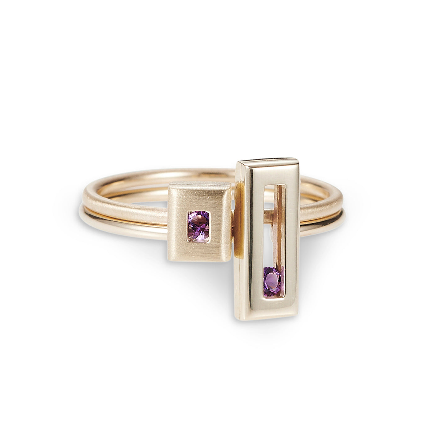 Luke Rose Jewellery rock collection gold stack rings