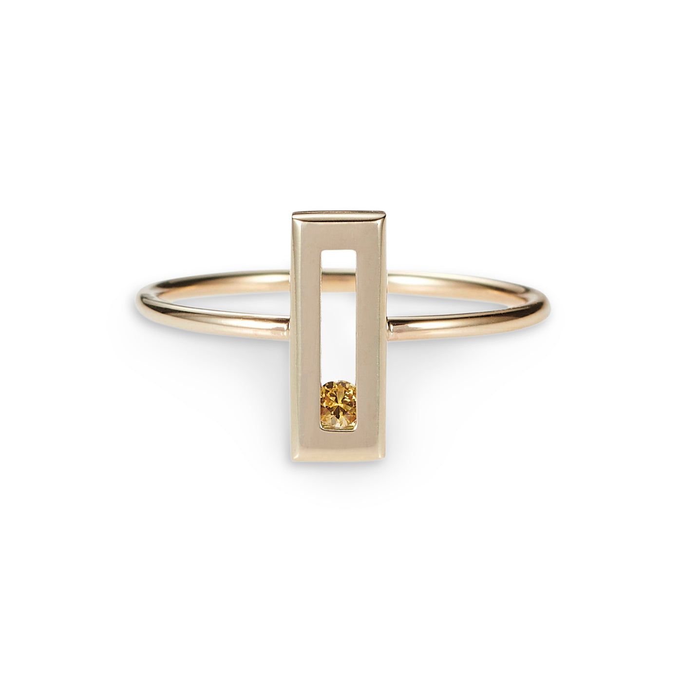 Luke Rose Jewellery yellow sapphire gold stack ring