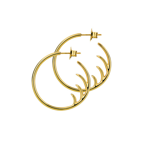BLINK Small Back Lash Hoop Earrings Gold