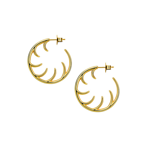 BLINK Small Full Lash Hoop Earrings Gold
