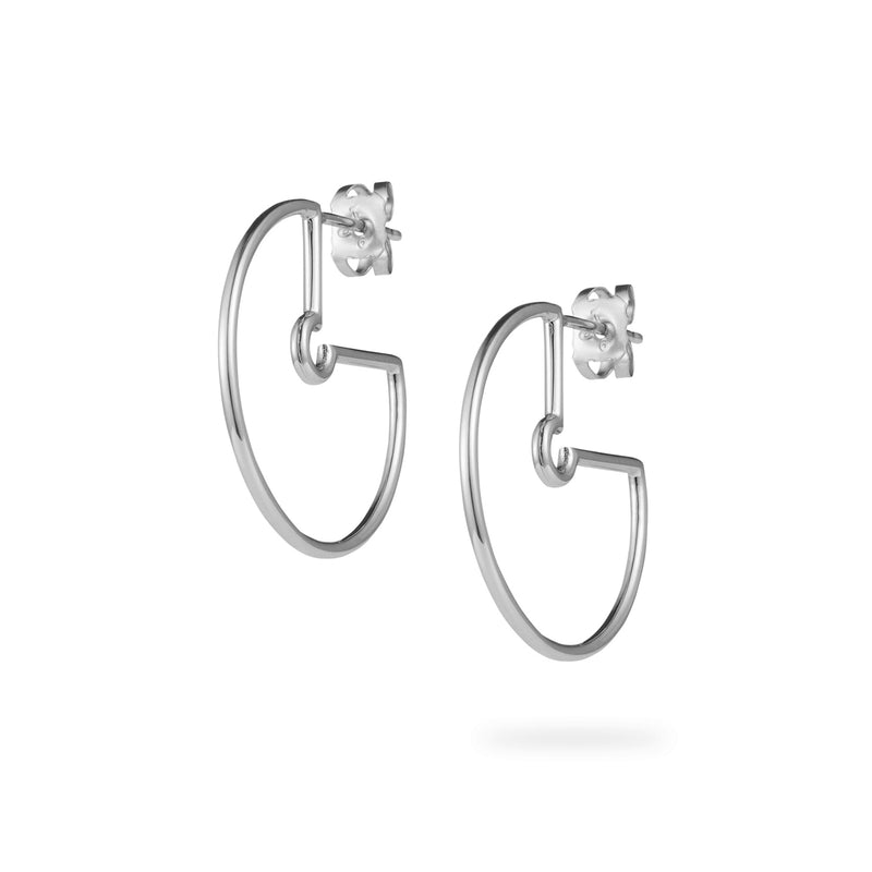 Luke Rose Jewellery silver hoop earrings