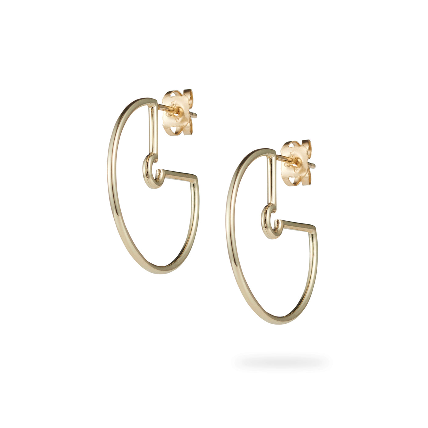 Luke Rose Jewellery yellow gold hoop earrings