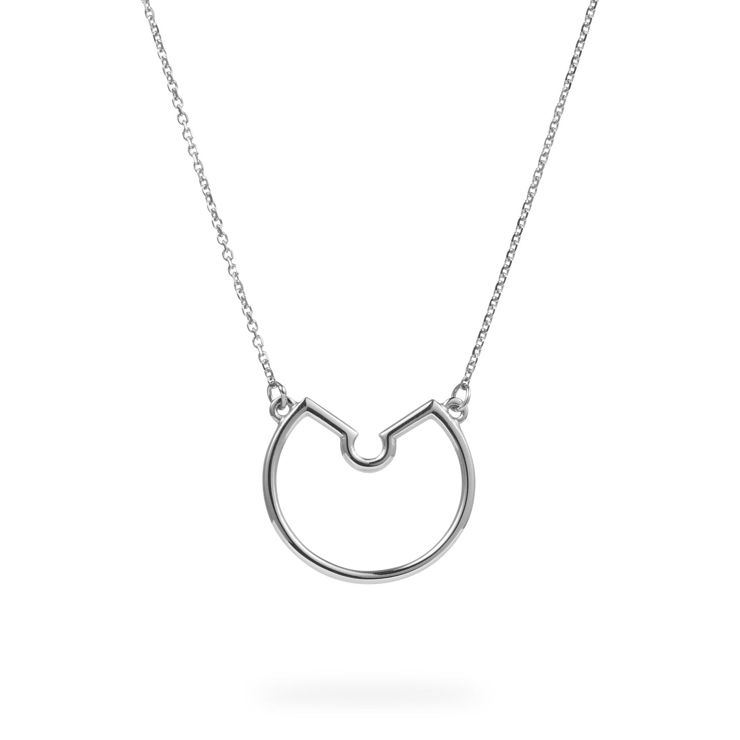 Luke Rose Jewellery small silver hoop necklace