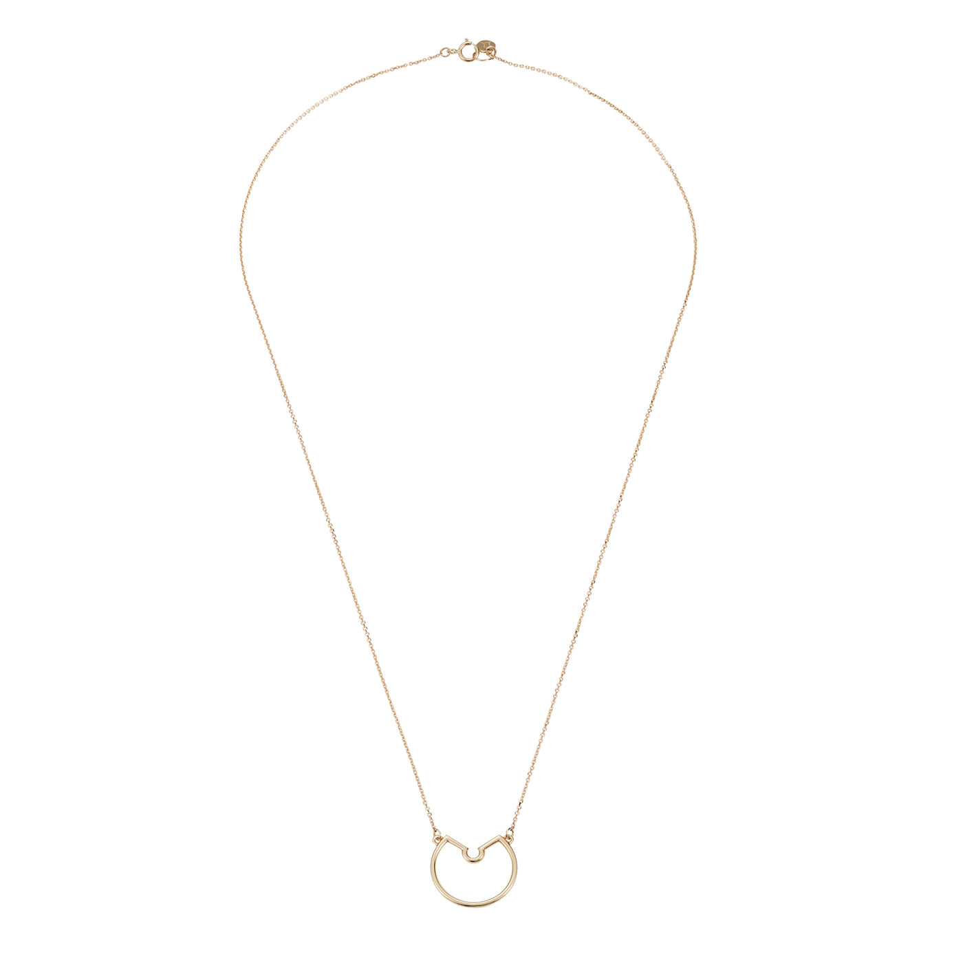 Luke Rose Jewellery rock collection gold hoop necklace