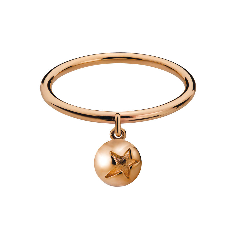 ELEMENTS Star Bud Drop Ring Rose Gold