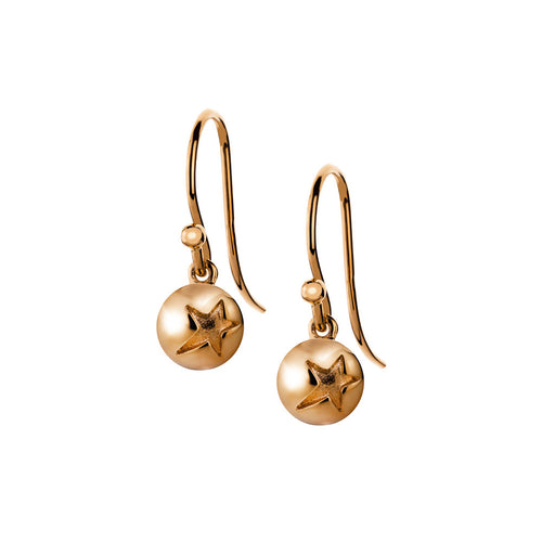 ELEMENTS Star Bud Hook Earrings Rose Gold