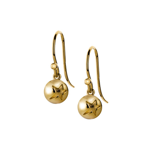 ELEMENTS Star Bud Hook Earrings Yellow Gold
