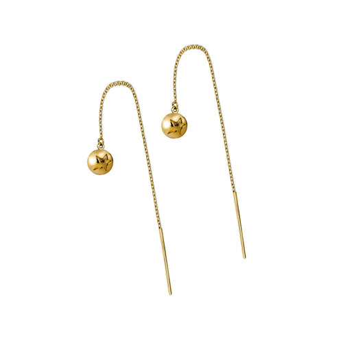 ELEMENTS Star Bud Thread Earrings Yellow Gold