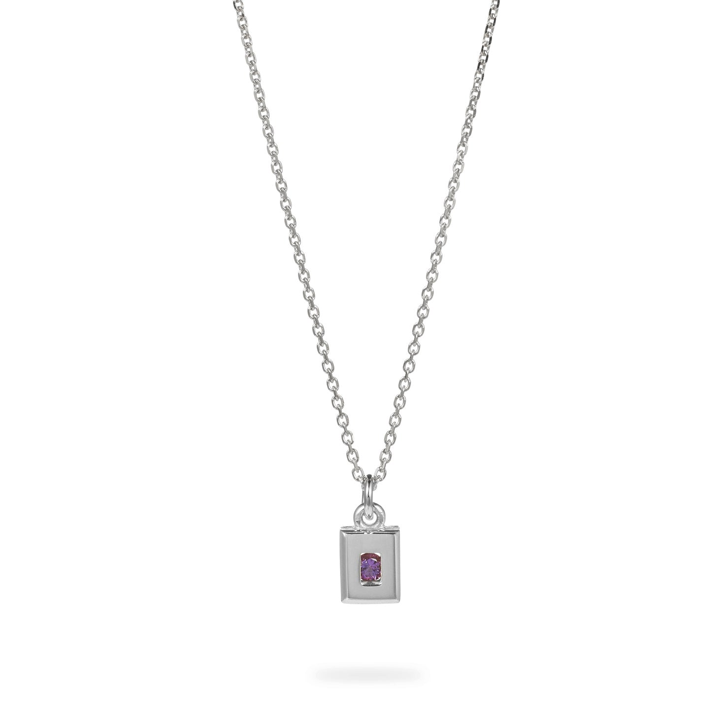 Luke Rose Jewellery silver amethyst necklace