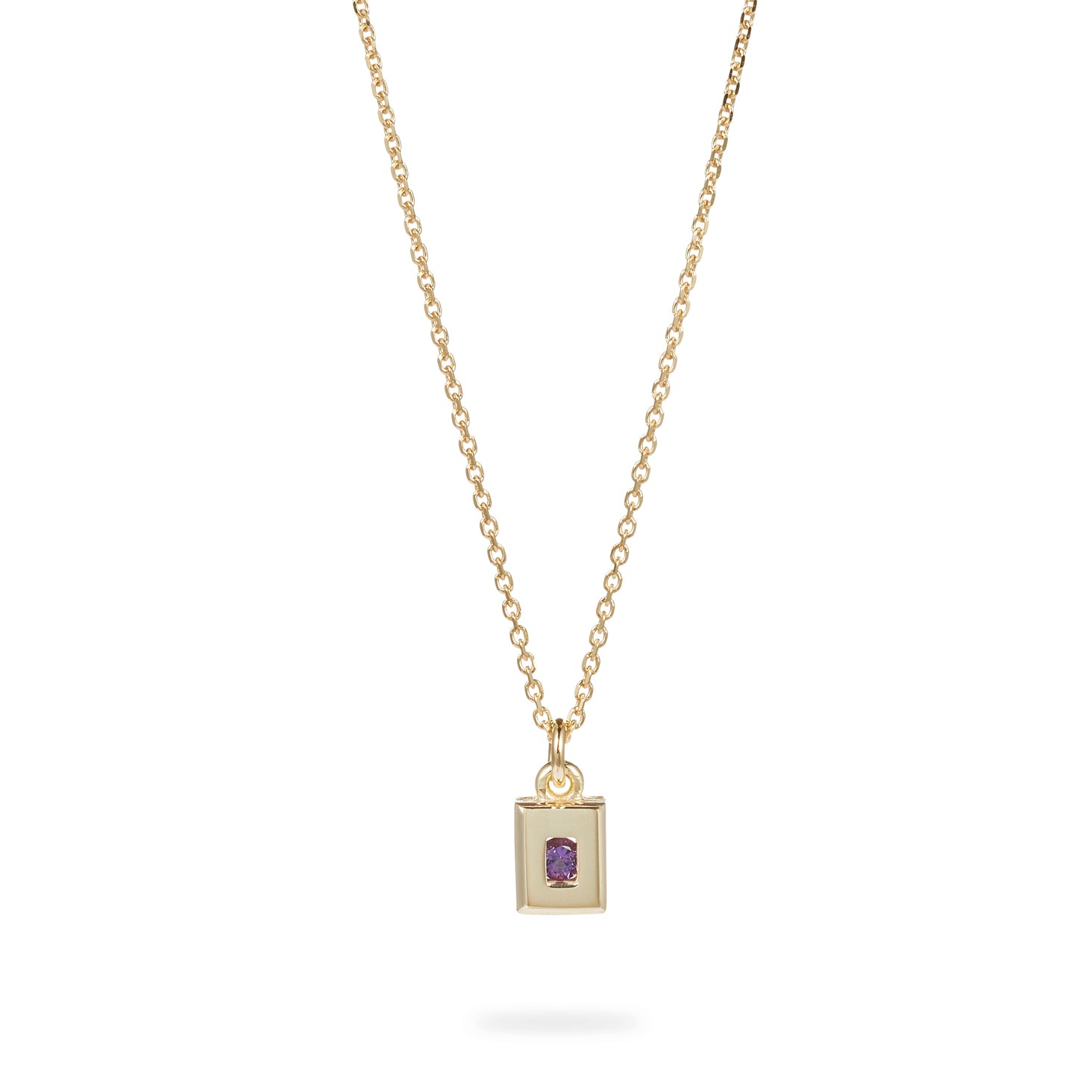 Luke Rose Jewellery gold amethyst necklace
