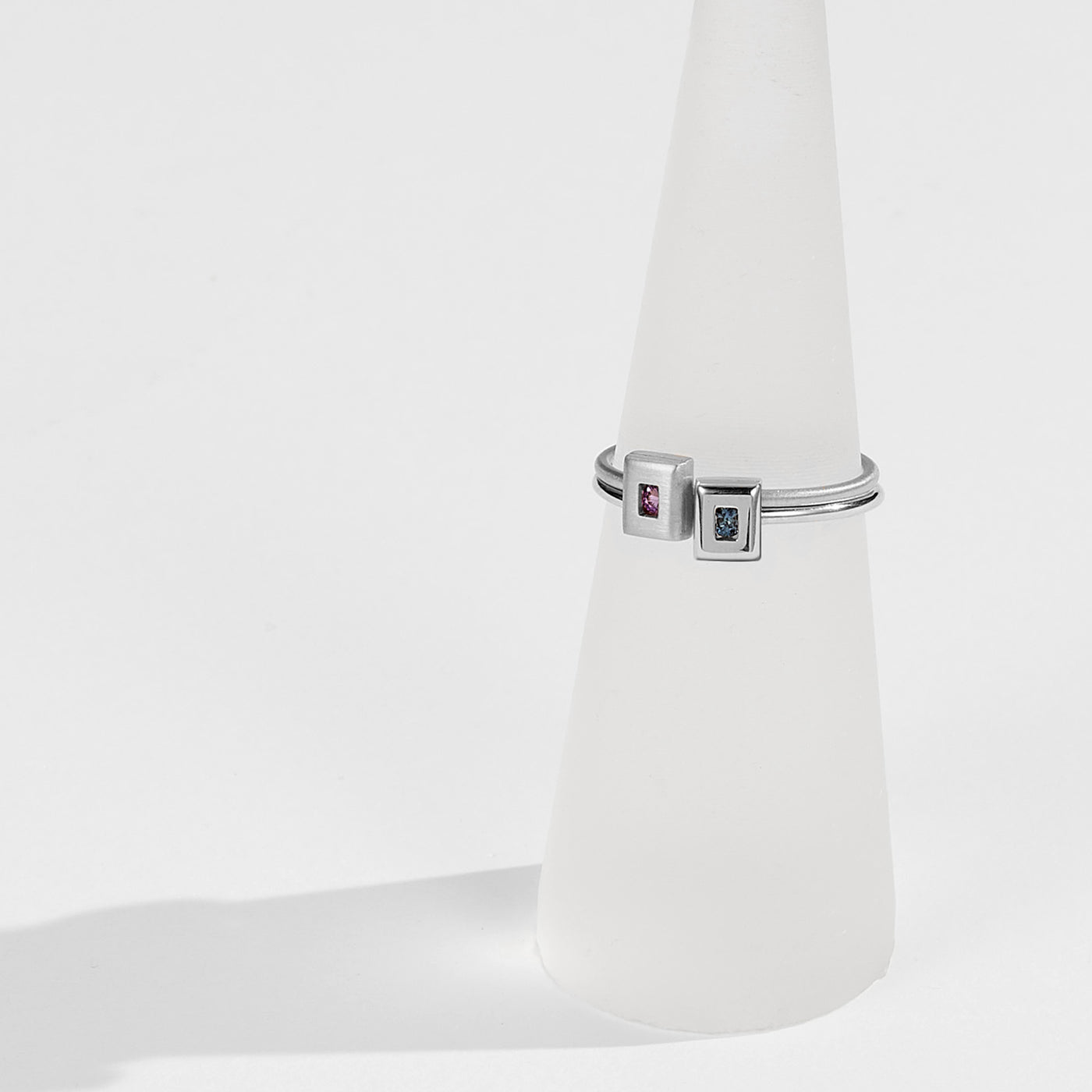 Luke Rose Jewellery rock collection silver stack rings