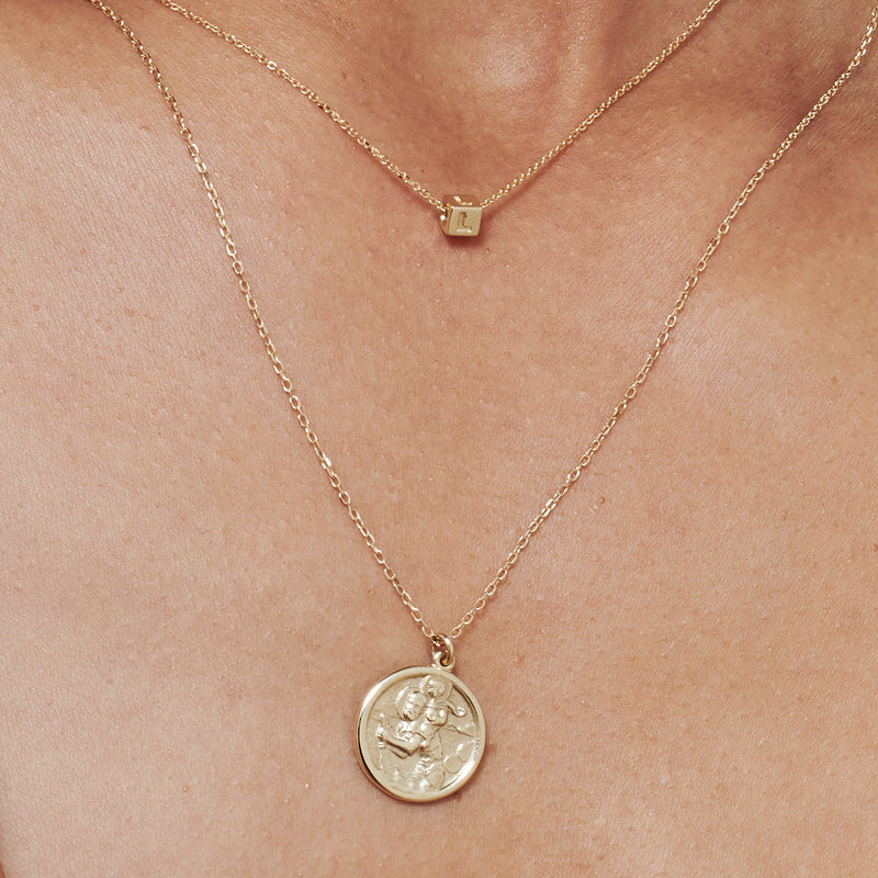 Saint Christopher Necklace in Yellow Gold
