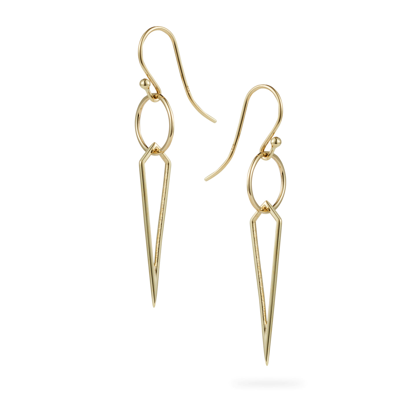 Luke Rose Jewellery rock collection gold drop earrings