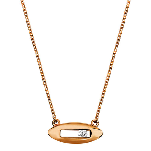 White diamond necklace rose gold