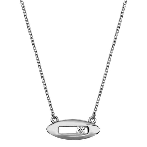 White diamond necklace white gold