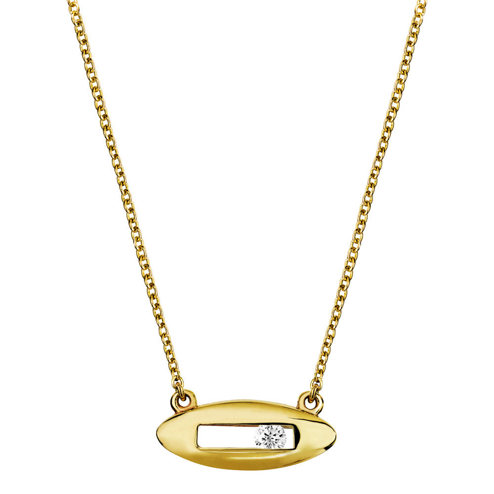White diamond necklace yellow gold