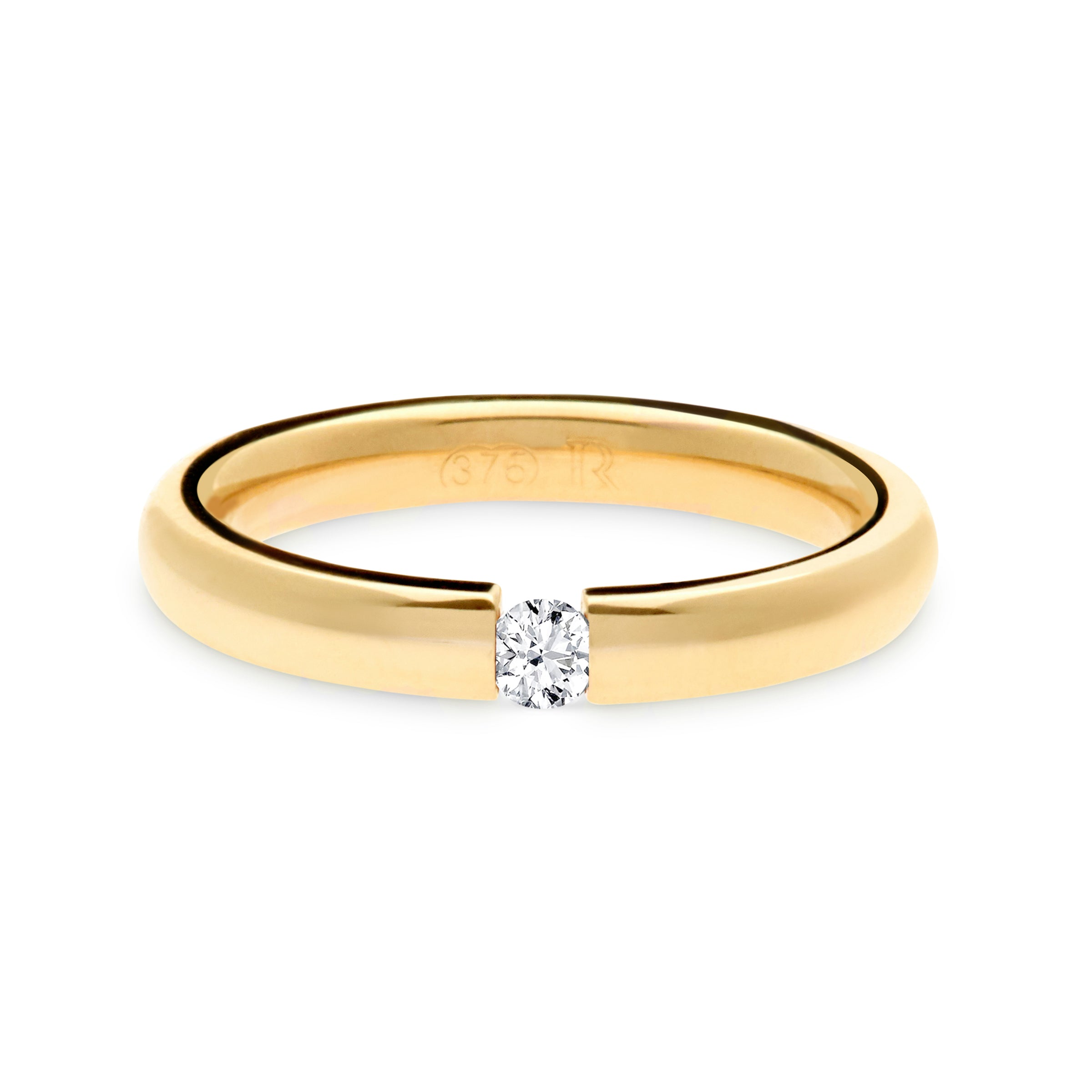 Tension set diamond wedding ring Australia