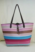 2-in-1 Striped Tote