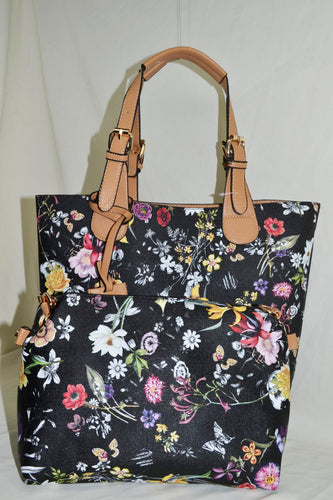 2 in 1 Elongated Floral Tote Bag