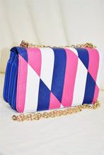 Geometric Print Crossbody Clutch
