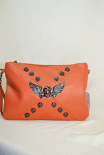 Skull and Wings Studded Wristlet