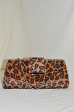 Cheetah Print Clutch with Chain