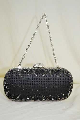 Bedazzled Oval Clutch