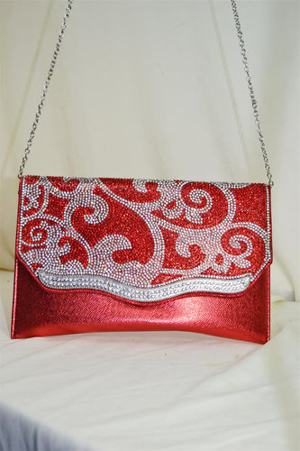 Bedazzled Pattern Clutch