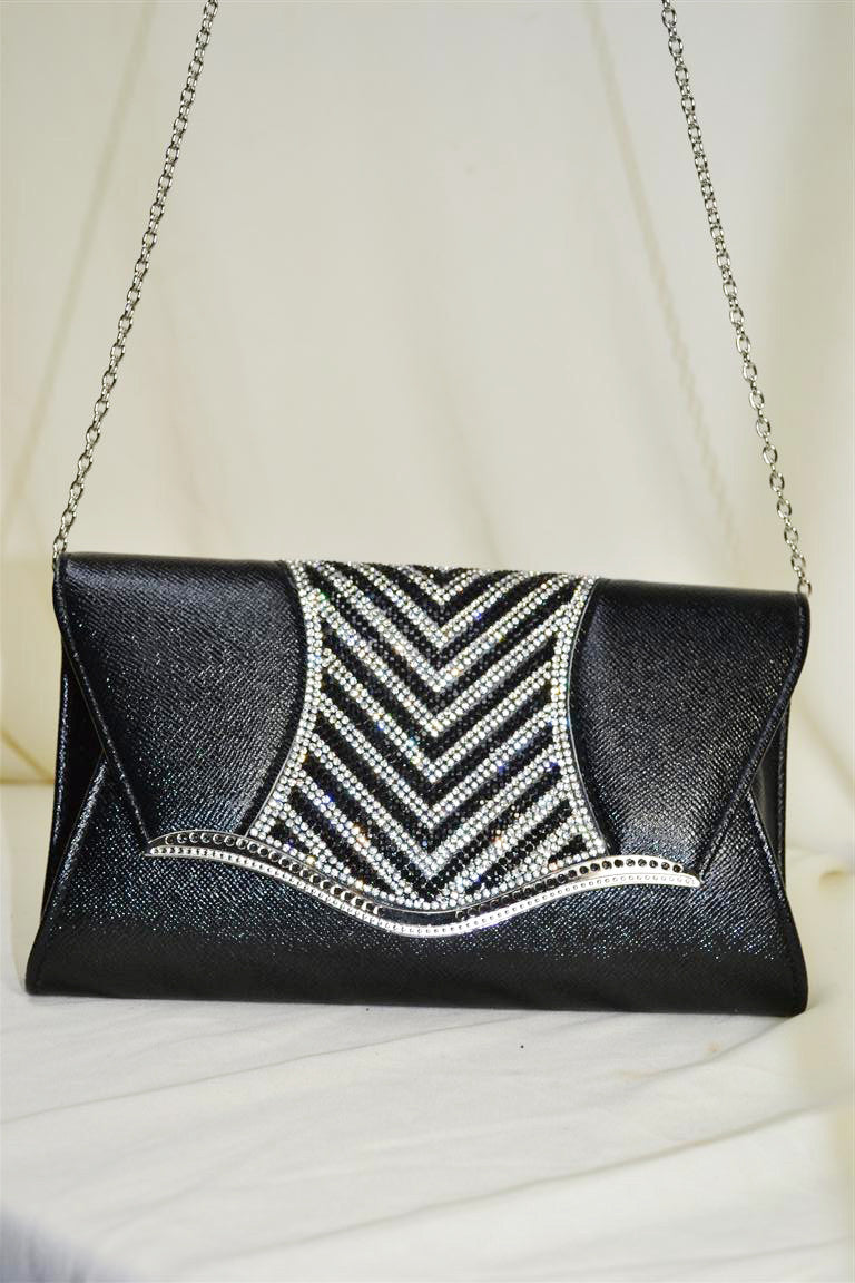 Rectangular Clutch with Patterned Flap